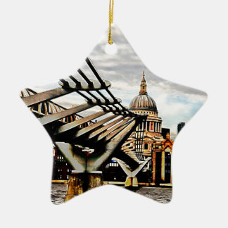 Millennium Bridge - London Ceramic Ornament