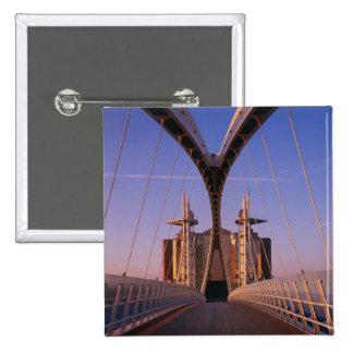 Millennium Bridge, Lowry Centre, Salford Pinback Button