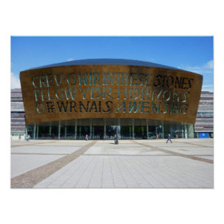 Millennium Centre, Cardiff, Wales Poster