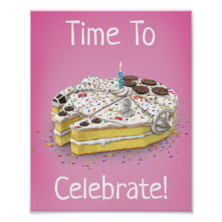 Millennium Falcon Birthday Cake Poster