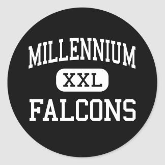 Millennium - Falcons - High - Tracy California Round Stickers