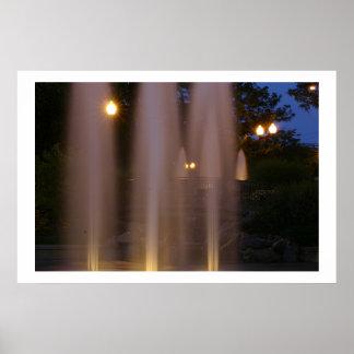 Millennium Fountain, Rockford, IL Poster