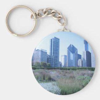 Millennium Park Basic Round Button Keychain