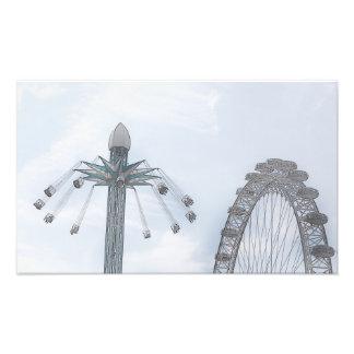 Millennium Wheel and Flying Swings Photo Print