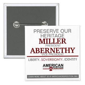 Miller/Abernethy 2012 Pinback Button