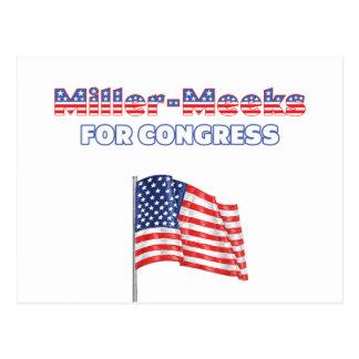 Miller-Amansa para la bandera americana patriótica Tarjetas Postales
