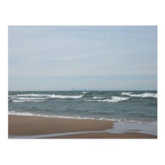 Miller Beach in Gary, Indiana Postcard