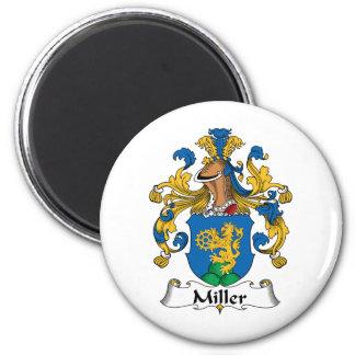 Miller Family Crest 2 Inch Round Magnet