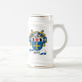 Miller Family Crest Beer Stein