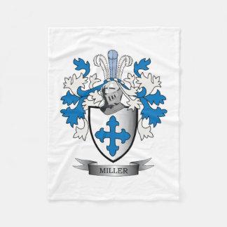 Miller Family Crest Coat of Arms Fleece Blanket