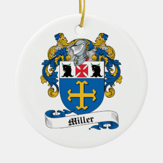 Miller Family Crest Christmas Ornaments