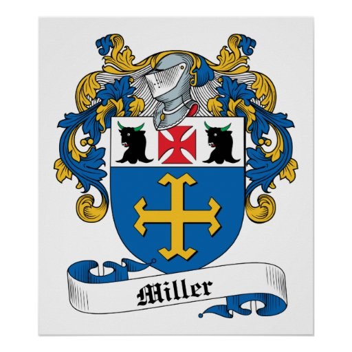 Family shield crest designs http www zazzle com miller family crest