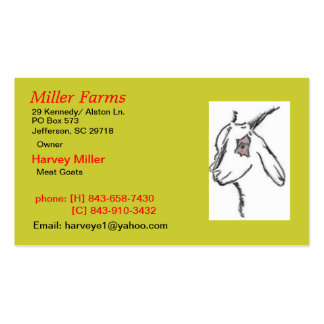 Miller Farms Double-Sided Standard Business Cards (Pack Of 100)