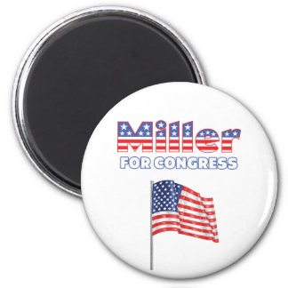 Miller for Congress Patriotic American Flag Design 2 Inch Round Magnet