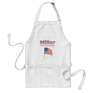 Miller for Congress Patriotic American Flag Design Adult Apron