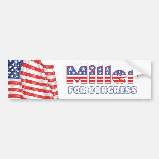 Miller for Congress Patriotic American Flag Design Bumper Sticker