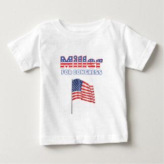 Miller for Congress Patriotic American Flag Design T-shirt