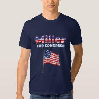 Miller for Congress Patriotic American Flag Design T Shirt
