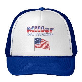 Miller for Congress Patriotic American Flag Design Trucker Hat