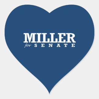 MILLER FOR SENATE 2014 HEART STICKER