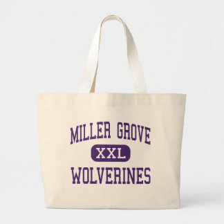 Miller Grove - Wolverines - High - Lithonia Jumbo Tote Bag