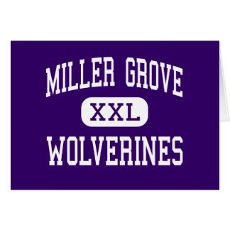Miller Grove - Wolverines - High - Lithonia Greeting Card