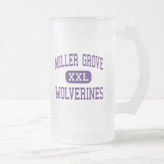 Miller Grove - Wolverines - High - Lithonia 16 Oz Frosted Glass Beer Mug