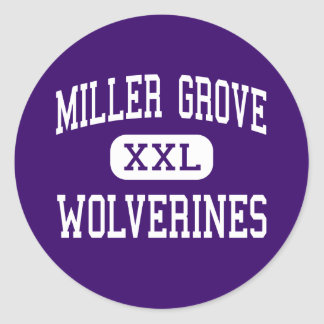 Miller Grove - Wolverines - High - Lithonia Classic Round Sticker