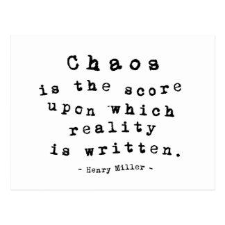 Miller on Chaos Postcard