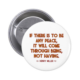 Miller on Peace 2 Inch Round Button