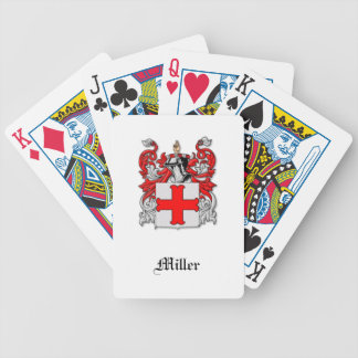 Miller Scottish Surname Family Crest Deck of Cardd Bicycle Playing Cards
