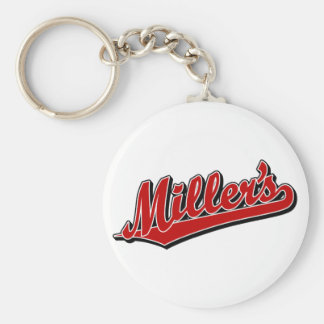 Miller's in Red Keychain
