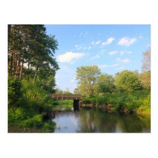 Millers River near Lake Dennison, Massachusetts Postcard