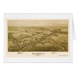 Millersville, mapa panorámico del PA - 1894 Tarjeta De Felicitación
