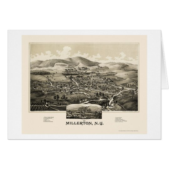 Millerton With Irondale, NY Panoramic Map - 1887 Card