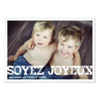 Millésime gaieté cartes de Noël 5x7 Paper Invitation Card