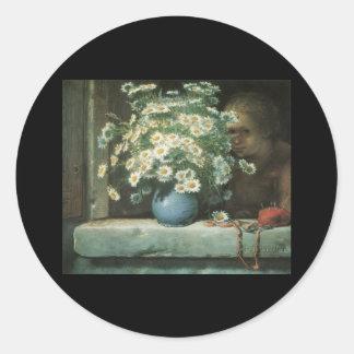 Millet Bouquet Of Daisies Round Sticker