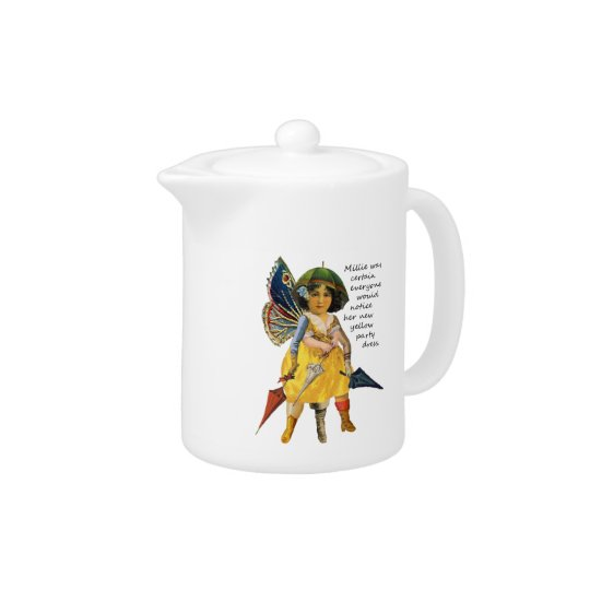 Millie and Her Party Dress Teapot