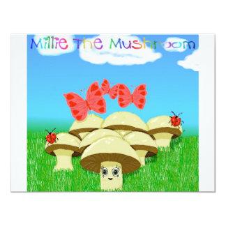 """Millie la seta invitación 4.25"""" x 5.5"""""""