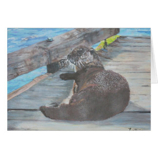 Millie the river otter stationery note card