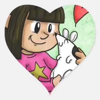 Millie y magdalena calcomanías de corazones personalizadas