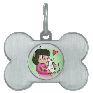 Millie y magdalena placa mascota