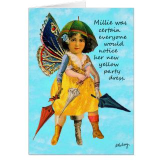 Millie y su tarjeta del vestido de fiesta