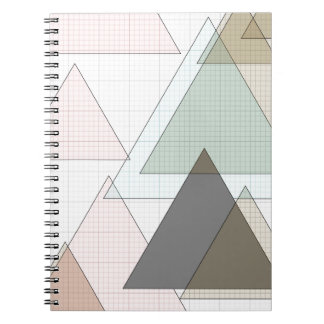 Millimeterpapier triángulos graph paper spiral notebook
