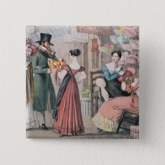 Milliners , printed by Charles Joseph Pinback Button