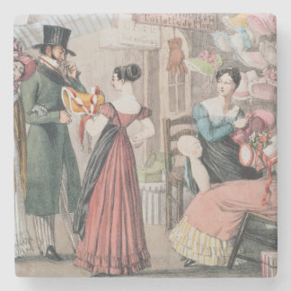 Milliners , printed by Charles Joseph Stone Coaster