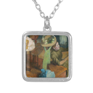 Millinery Shop Silver Plated Necklace