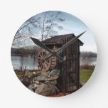 Milling about the old outhouse round wallclocks
