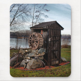 Milling about the outhouse mouse pad