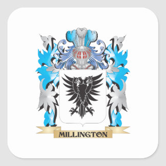 Millington Coat of Arms - Family Crest Square Sticker